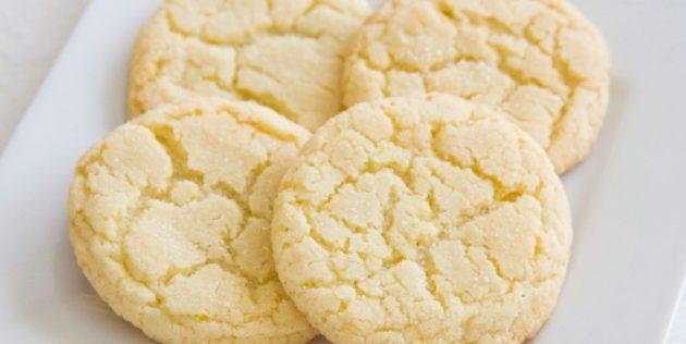 Рецепт печенья с лимоном