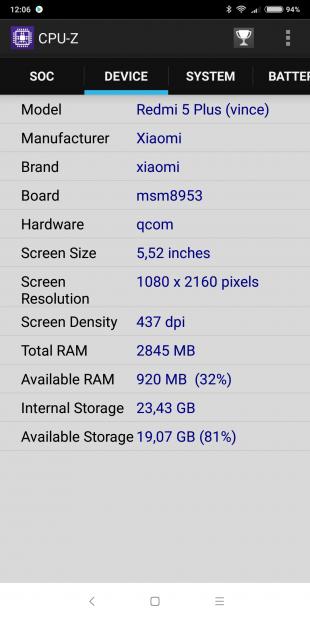 Xiaomi Redmi 5 Plus: технические характеристики