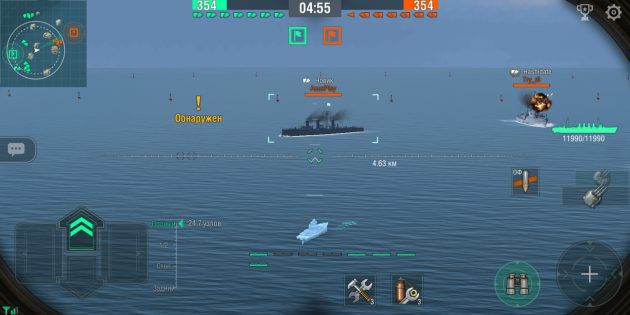World of Warships Blitz: сражения
