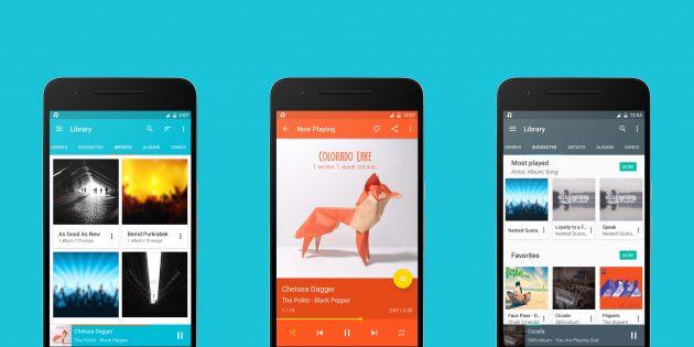 Shuttle — красивый и функциональный музыкальный плеер для Android