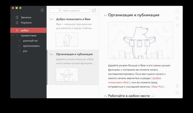 Бесплатные программы для Mac: Bear