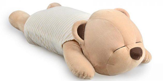 Что подарить девушке на 14 февраля: Плюшевый мишка-подушка