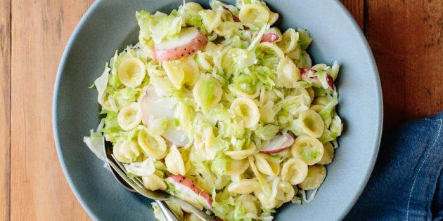 Блюда из капусты: Паста с капустой, картошкой и сыром