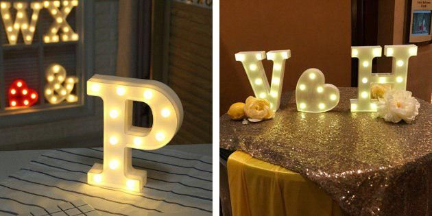 Буквы-светильники