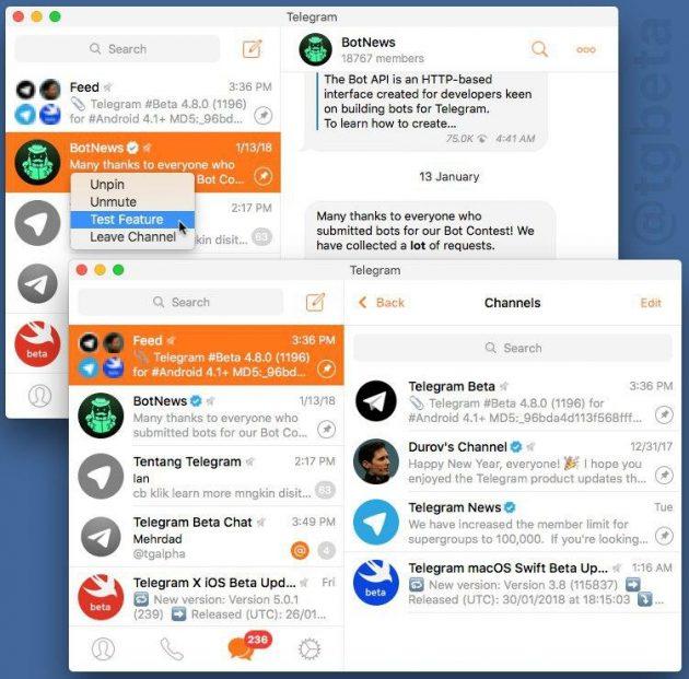 Группировка каналов в Telegram