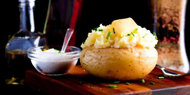 Картошка в духовке, фаршированная говядиной и овощами: простой рецепт