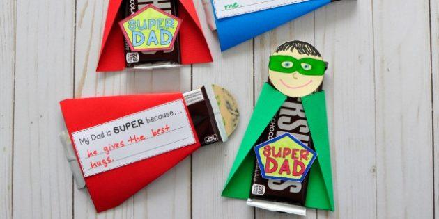 Как сделать подарки на 23 Февраля своими руками: Сладкий подарок для супергероя