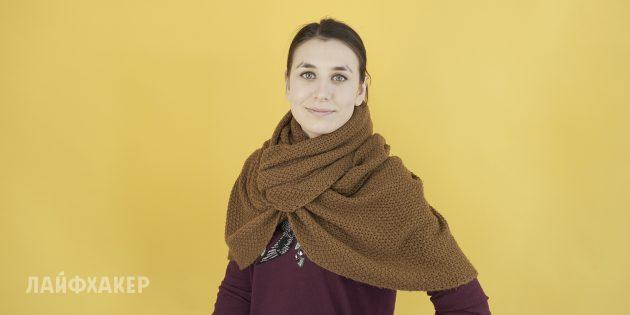 Как завязывать шарф: Бабочка