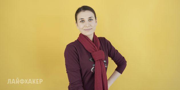 Как завязывать шарф: Галстук