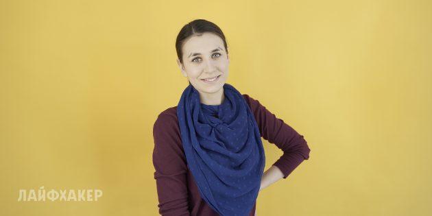 Как завязывать шарф: Подвеска