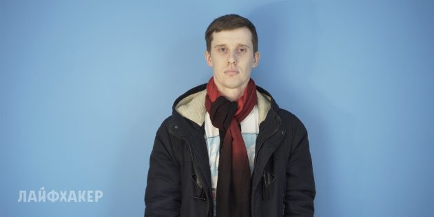 Как завязать шарф: Обратный узел