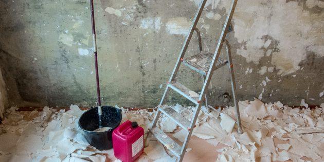 Ремонт, очистка стен