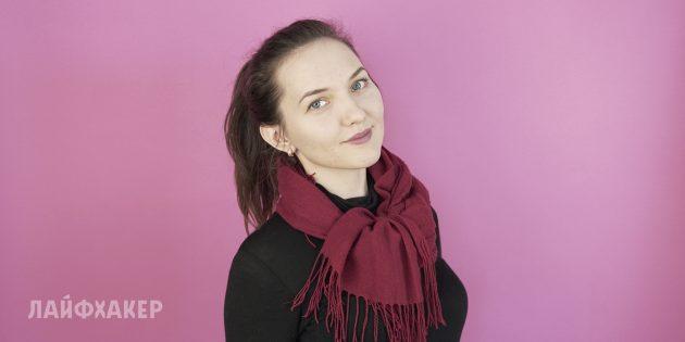 Как завязать шарф: Двойное колье