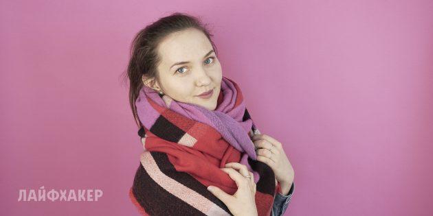 Как завязывать шарф: Воротник