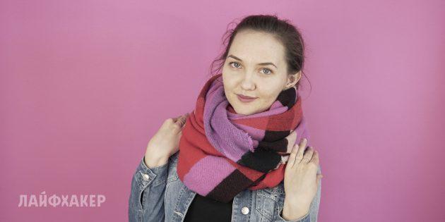 Как завязывать шарф: Узкий воротник