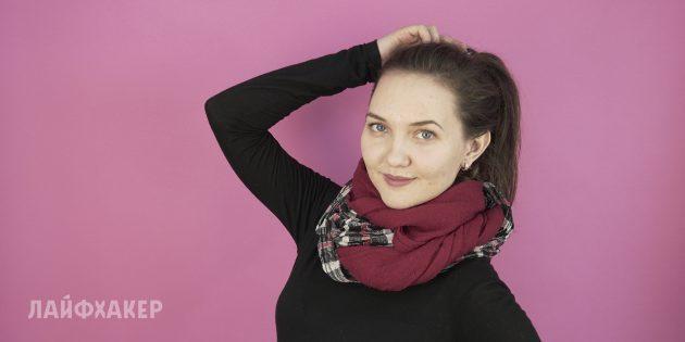 Как завязывать шарф: Контрастный снуд