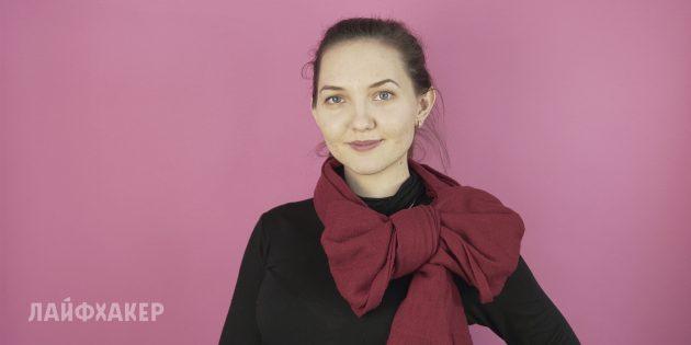 Как завязывать шарф: Бант