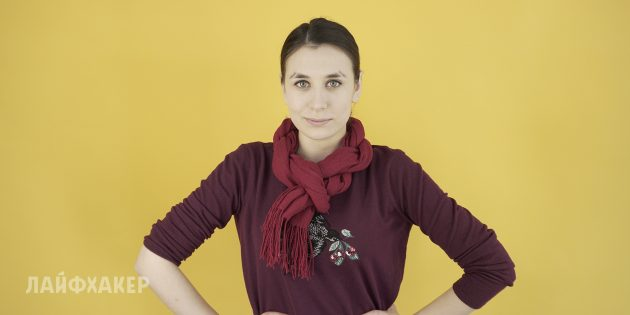 Как завязать шарф: Колье