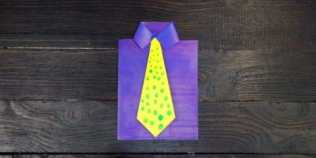 Подарки на 23 Февраля своими руками: приклейте галстук