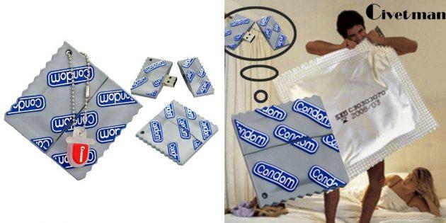 Флешка-презерватив