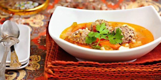 Рецепты рассольника: Рассольник с фрикадельками
