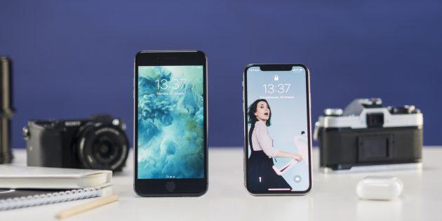 Сравнение iPhone 8 Plus и iPhone X