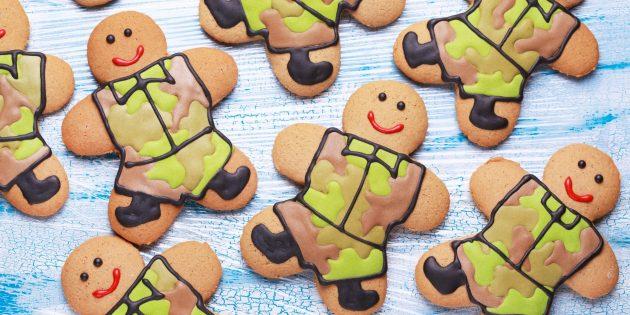 Подарки на 23 Февраля своими руками: печенье-человечки
