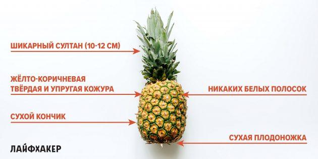 Как выбрать ананас: признаки спелого ананаса
