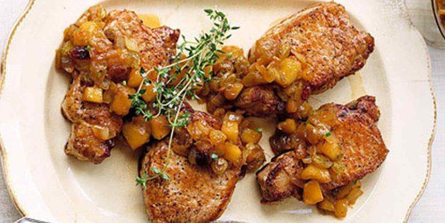 Блюда из свинины: Свинина с яблочным чатни