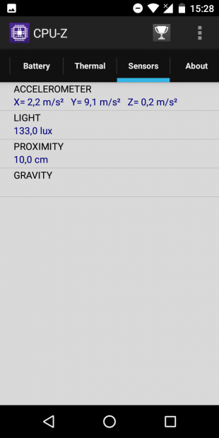 iLA X: сенсоры