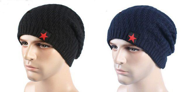 Трикотажная мужская шапка