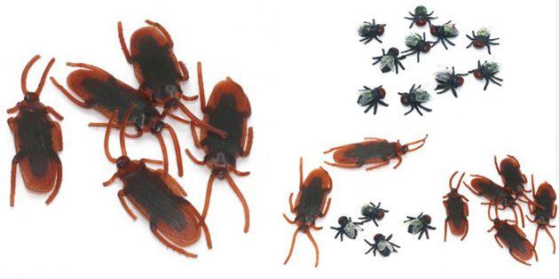 розыгрыши на 1 апреля: Резиновые насекомые
