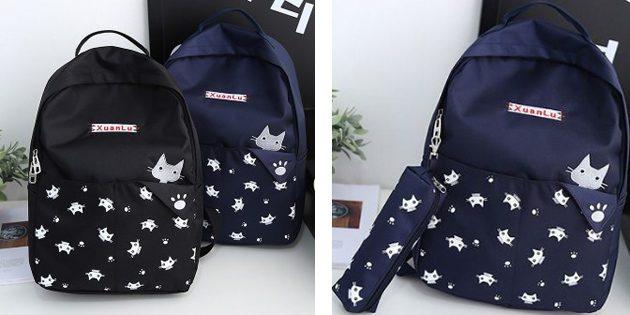 Рюкзак с пеналом в комплекте