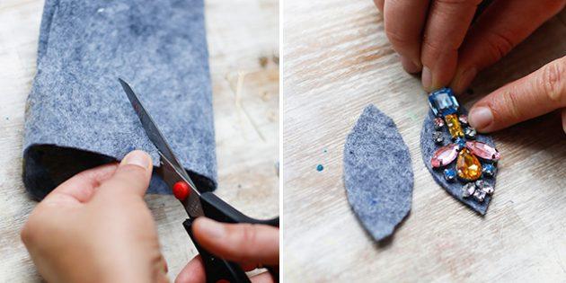 Подарки на 8 Марта своими руками: Серьги с камнями