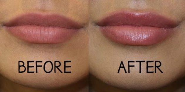экономить на косметике: увеличение губ