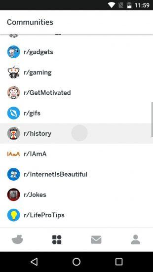 Приложение Reddit