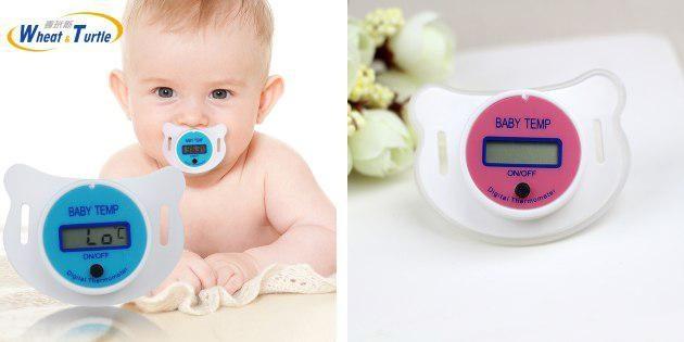 Соска с термометром
