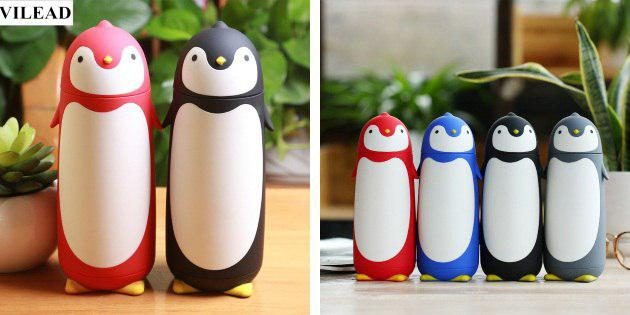 Термосы-пингвины