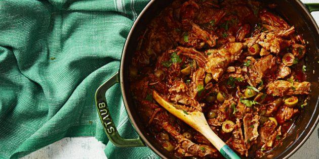 Рецепты со свининой: Тушёная свинина с оливками