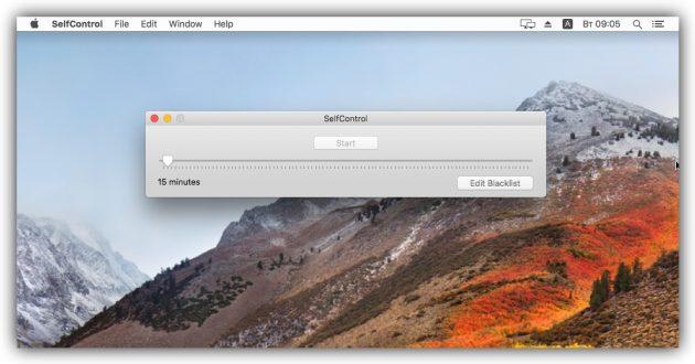 Как заблокировать сайт в macOS с помощью SelfControl