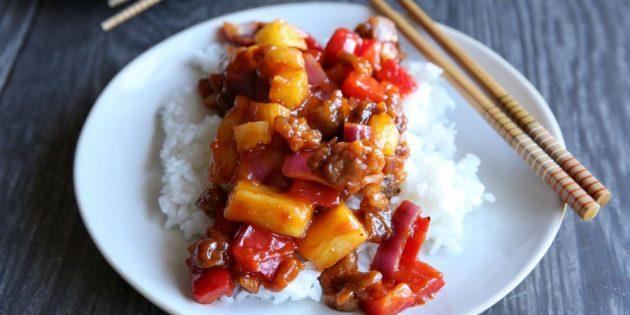 Блюда из свинины: Свинина в кисло-сладком соусе