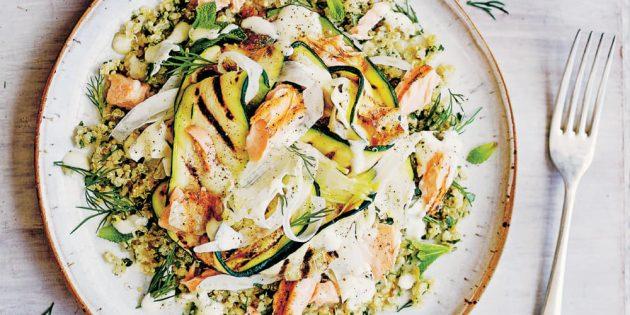 Что приготовить на ужин: Салат из лосося