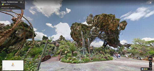 В Google Street View теперь можно погулять по Диснейленду