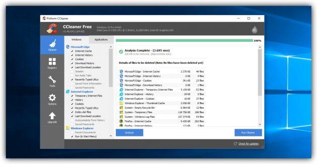 Как очистить диск в Windows: Удалите временные файлы сторонних программ