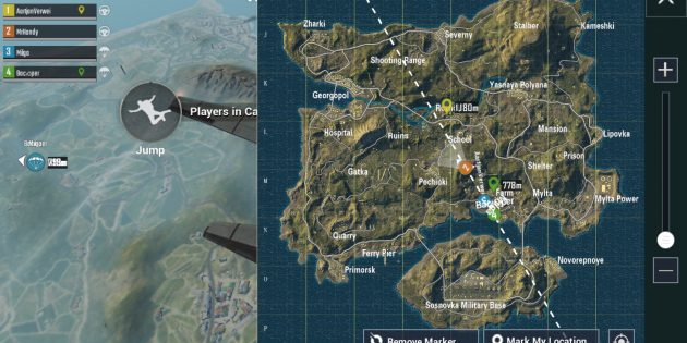 PUBG Mobile: карта
