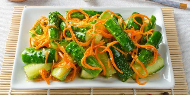 Лучшие рецепты с имбирём: Острый овощной салат с имбирём