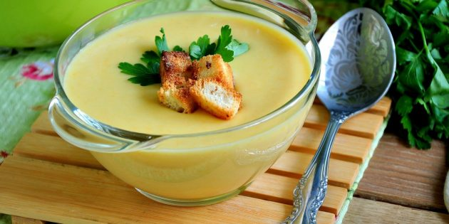 Блюда из кабачков: Суп-пюре из кабачков