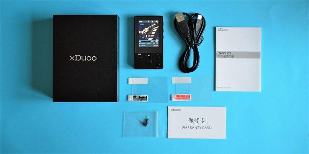 xDuoo Nano D3: комплектация