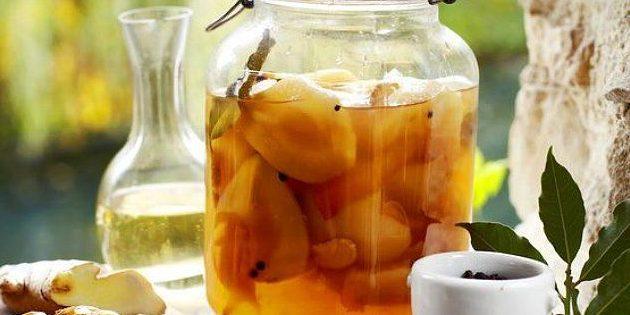 Имбирь рецепты: Маринованные груши с имбирём