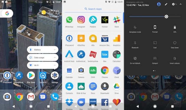 чистая версия Android: интерфейс